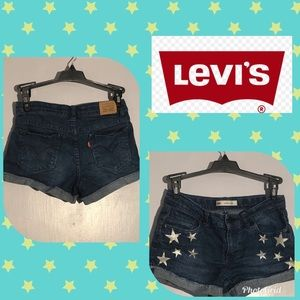 Blue with stars Levi jean shorts